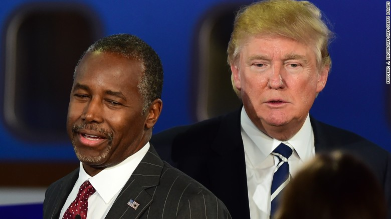 Trump, Carson go head-to-head