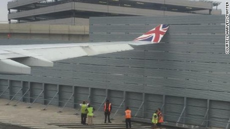 "The plane ""shuddered"" as it hit the fence, a Virgin Atlantic flight passenger said."