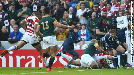 Rugby World Cup 2015: Japan stuns South Africa