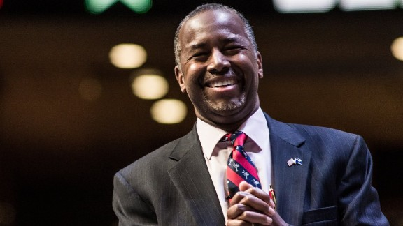 GREENVILLE, SC - SEPTEMBER 18:   Republican presidential hopeful Ben Carson speaks to the crowd at the Heritage Action Presidential Candidate Forum September 18, 2015 in Greenville, South Carolina. Eleven republican candidates each had twenty five minutes to talk to voters Friday at the Bons Secours Wellness arena in the upstate of South Carolina. (Photo by Sean Rayford/Getty Images)
