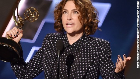 Jill Soloway accepts Outstanding Directing for a Comedy Series award for 'Transparent' onstage during the 67th Annual Primetime Emmy Awards.