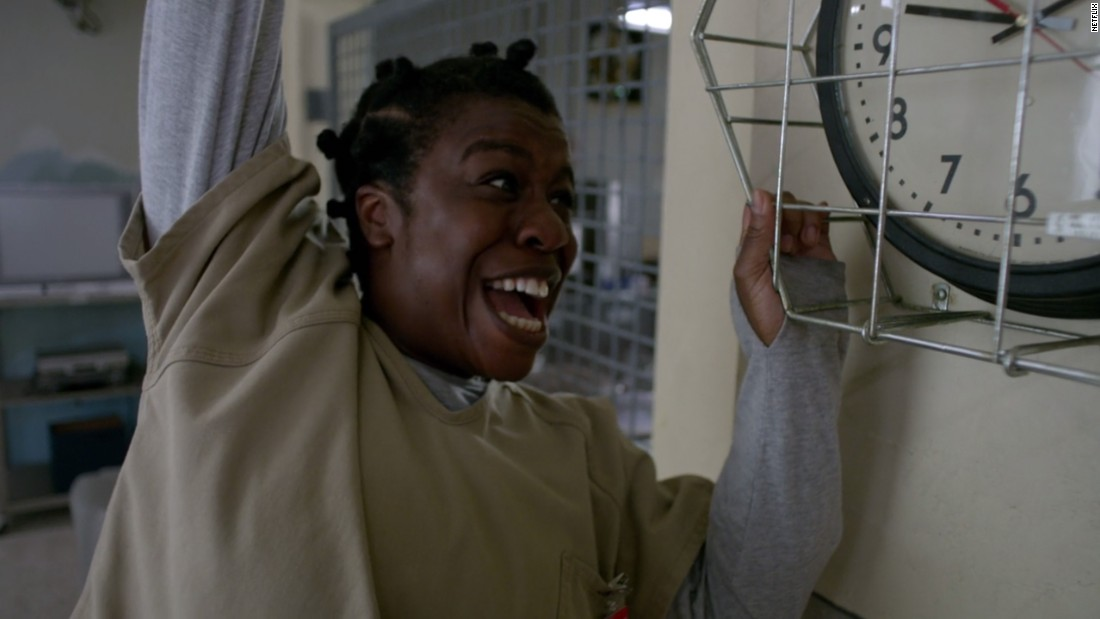 "Uzo Aduba is a contender for outstanding female actor in a comedy series for her role as Suzanne ""Crazy Eyes"" Warren on ""Orange Is the New Black."" Edie Falco (""Nurse Jackie""), Ellie Kemper (""Unbreakable Kimmy Schmidt""), Julia Louis-Dreyfus (""Veep"") and Amy Poehler (""Parks and Recreation"") are also nominated."