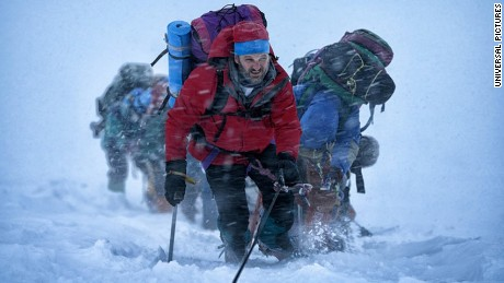 "The film ""Everest"" follows two expeditions to summit the peak in 1996."