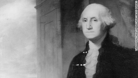 Circa 1789, George Washington, the first president of the United States.