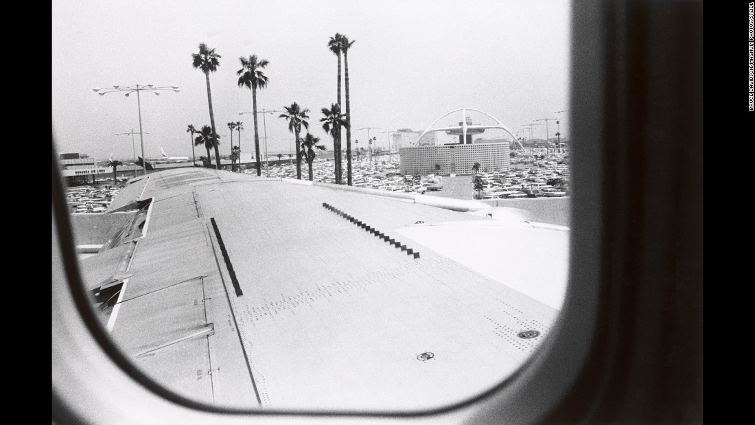 "Award-winning photographer Bruce Davidson snapped this shot as he landed in Los Angeles in 1964. He was there on assignment for Esquire magazine, but his pictures were never published and were largely unseen until his new book, <a href=""https://steidl.de/Books/Los-Angeles-1964-1416202847.html"" target=""_blank"">""Los Angeles 1964.""</a>"