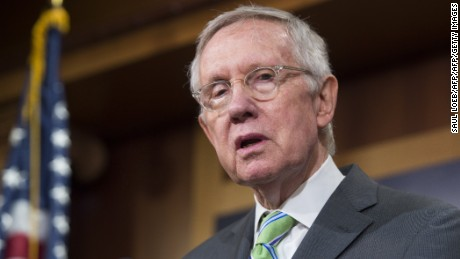 Senate Democratic Leader Harry Reid speaks following a failed cloture vote to end debate on the Iran nuclear deal and block a final vote on the disapproval of the deal, in the US Senate at the US Capitol in Washington, DC, September 10, 2015.