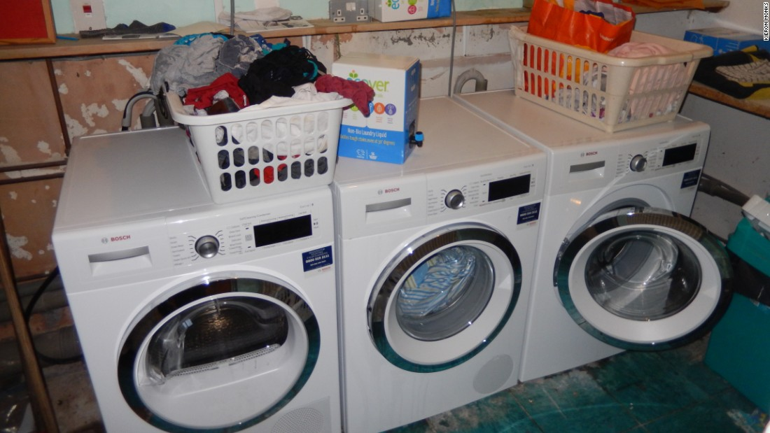 18 residents means a lot of laundry - but at scale the costs are a fraction of a single person's.