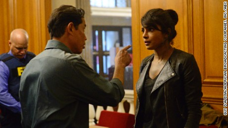 "Chopra's ""Quantico"" character becomes an unlikely suspect in a terrorist attack on New York."