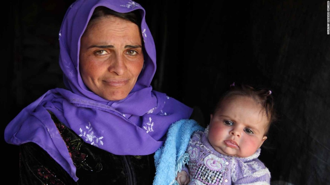 Barbara Massaad photographed a mother and daughter at the Zahle in Beirut, where she cooked soup for refugees.