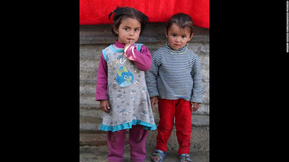 Women and children make up close to 80% of the Syrian refugees in Lebanon. Here you see two small children at the Zahle Syrian refugee camp.