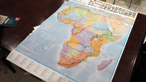"Ron Rutland: ""I could have just done Cape to Cairo, but I'd never been to West or North Africa. I thought, you know what, I'm going to try and do every country... I sat with a map of Africa and plotted for hours and hours."""