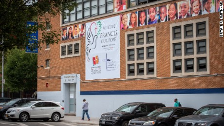 Pope Francis is set to visit Our Lady Queen of Angels School in East Harlem on Friday.