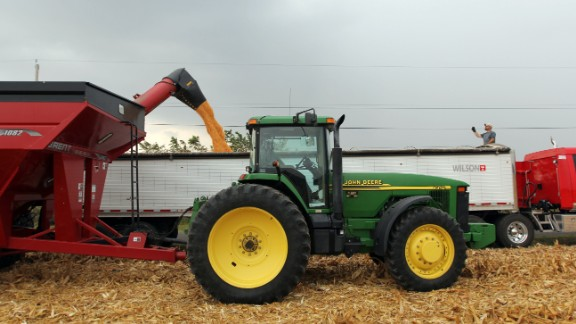 The fertilizer farmers apply to corn -- which feeds many cattle -- also contributes to climate change.
