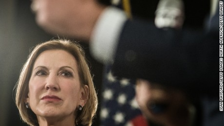 Republican presidential candidate Carly Fiorina speaks to voters during a town hall meeting at the Ocean Reef Convention Center September 22, 2015 in Myrtle Beach, South Carolina.
