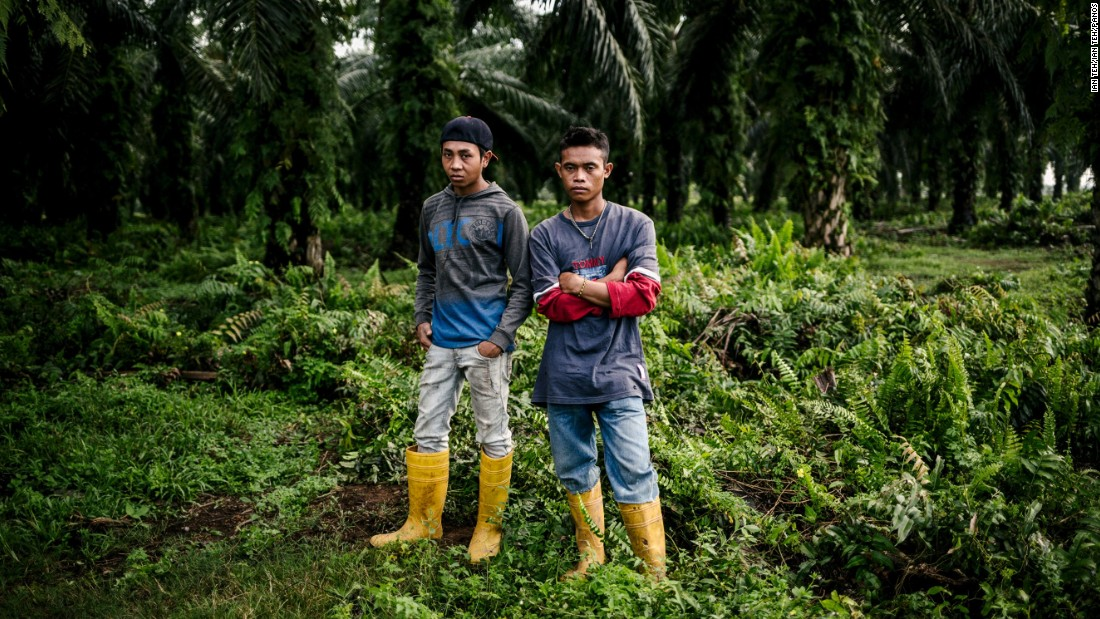 "British-Malaysian photographer Ian Teh has focused on social, environmental and political issues in China and South-East Asia. Pictured, Mr. Yusriadi and Mr. Muhamat are migrant Indonesian plantation workers at a palm oil estate in Sungai Pelek, Malaysia.<br /><br />""Malaysia's labor laws exclude migrant domestic workers from key protections, so they don't get a weekly day of rest, annual leave etc. There are none of these protections for them and they are open to abuse."""