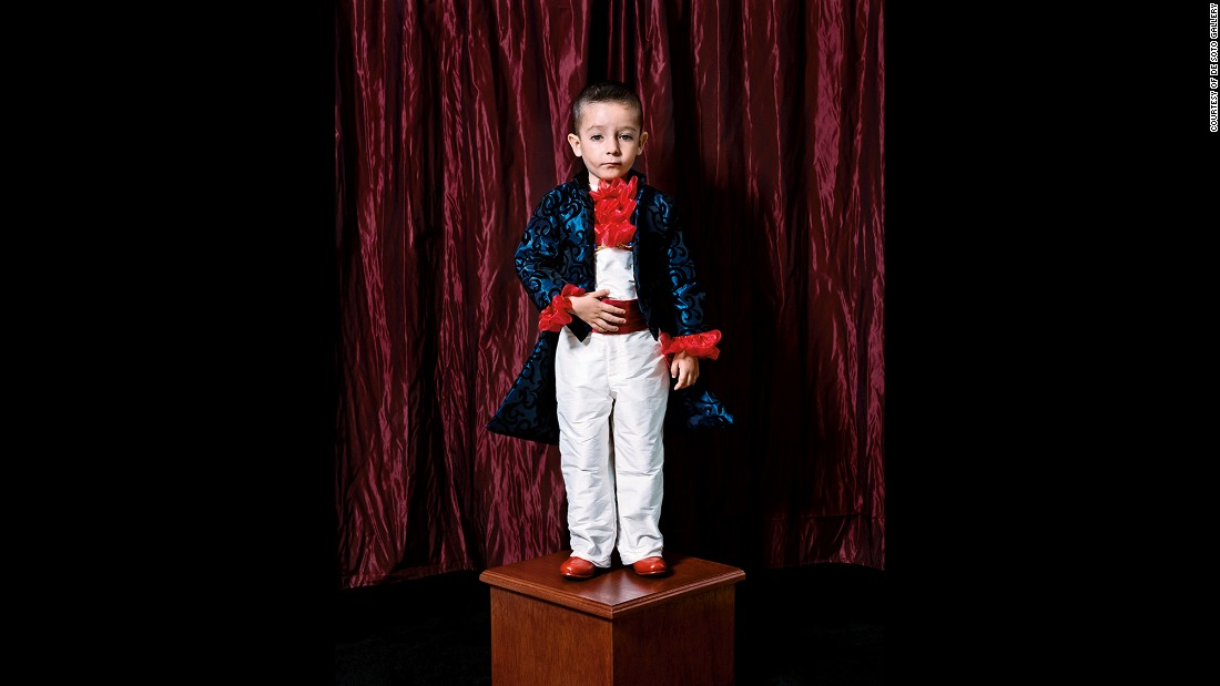 "Photographer Joaquin Trujillo took this portrait of his nephew Mel in 2006. It's part of his ""Los Ninos"" series, which re-creates the family portraits he remembers from his childhood in Mexico."