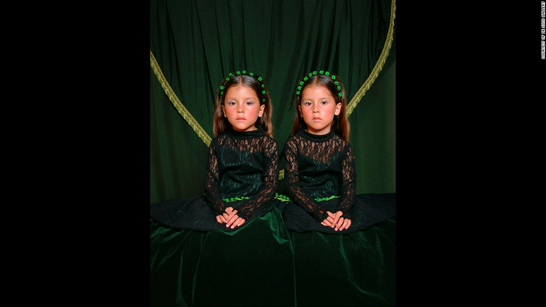 Trujillo took the portraits over a 15-year span. His subjects were his young relatives, including Maritza and Laritza, seen here in 2003.
