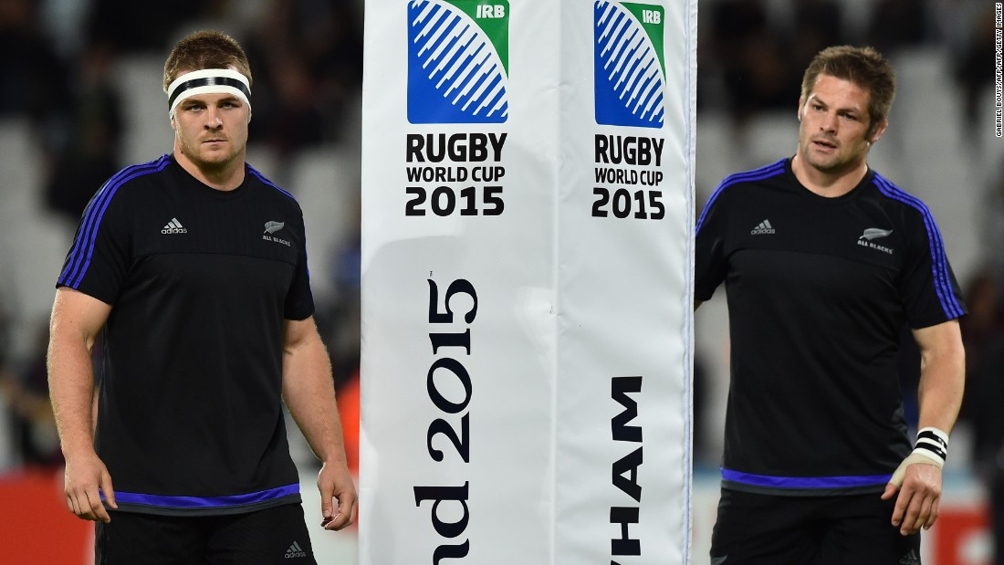 Sam Cane (left) was named New Zealand  captain while regular skipper Richie McCaw (right) came off the bench in the second half to make his 144th international appearance.