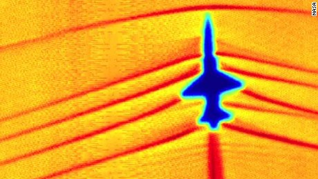 See shock waves as supersonic jet eclipses sun