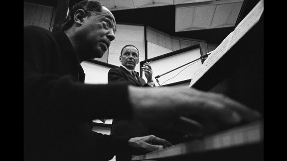 """Sinatra recorded with many of the greats: Tommy Dorsey, Bing Crosby, Count Basie, Antonio Carlos Jobim. On his birthday in 1967, he finally got to record with Duke Ellington, left, in sessions that would become the album """"Francis A. and Edward K."""" As Stan Cornyn wrote in the liner notes for the album: """"The singer today is one year older. His singing, one more year profound."""""""