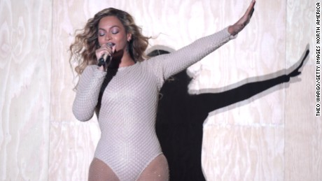 Beyonce performs during the Global Citizen Festival in New York's Central Park on September 26.