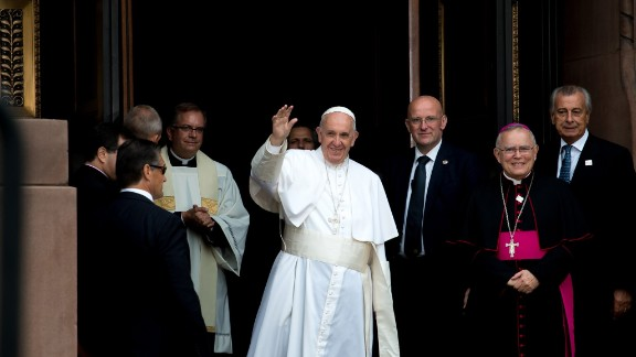 Pope Francis arrives Saturday, September 26, in Philadelphia for Mass. Photographer Connor Dwyer was selected as one of the top three winners in a campaign by Aleteia, a Catholic organization, to document the papal visit through social media.