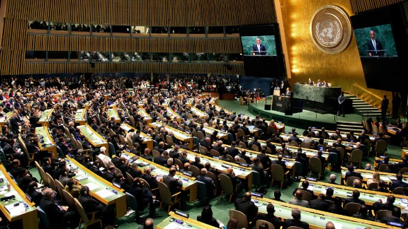 The 69th United Nations General Assembly at United Nations Headquarters on September 24, 2014.