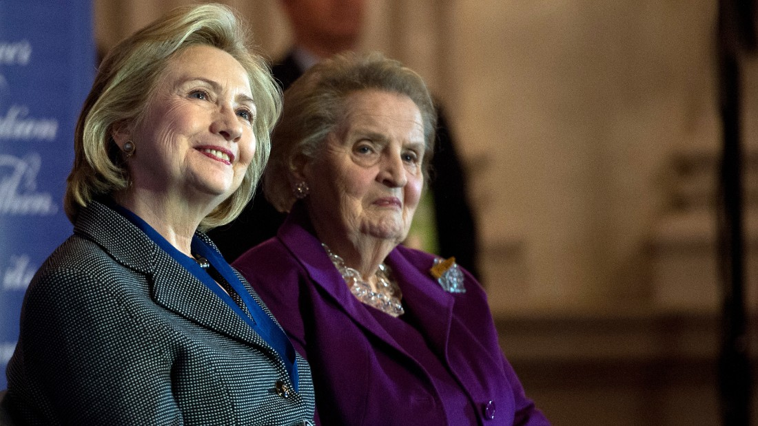 Women to back Clinton, avoid 'special place in Hell'