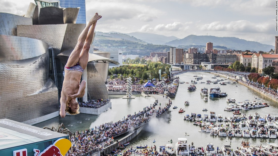 The 2015 Red Bull Cliff Diving World Series came to a climax in Bilbao, Spain -- with a spectacular backdrop of the Guggenheim Museum and 50,000 spectators.