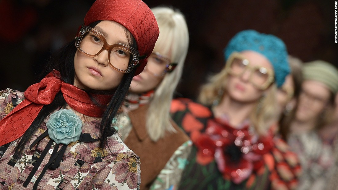 New creative director Alessandro Michele traded overt sex appeal for geek chic at Gucci.