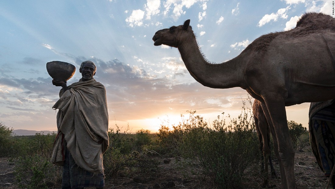 "The nomadic herdsmen of Ethiopia's Fantalle region have a life devoted to the care of their camel livestock. Some Somalis buy the milk and resell it for sweet tea, whilst the Karrayyu herders also sell to <a href=""http://elliltaproducts.com/"" target=""_blank"">Elilta Women</a>, an all-female association of artisans that turn the milk into <a href=""https://www.facebook.com/ElliltaProducts/posts/1009594175733631"" target=""_blank"">lavender-infused soap</a>. (Image courtesy of <a href=""http://www.slowfood.com/"" target=""_blank"">Slow Food</a>)"