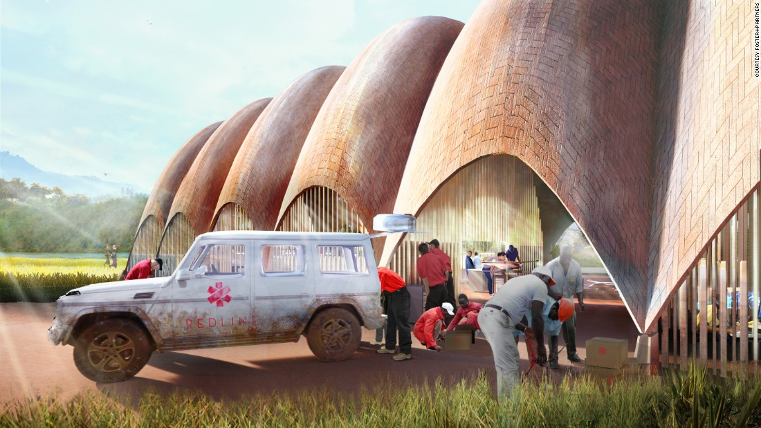 "Each droneport will take two to three years to build, at a projected cost of about $300,000.<br /><br />""We wanted a concept that was really cheap,"" said Ledgard, ""and the drones themselves will contain a tiny amount of super high-tech and a lot of low-tech.""<br /><br />Built to be robust, economical and simple to repair, they will be powered by electric engines and have a fixed wing design, more closely resembling commercial planes rather than quadrocopters."