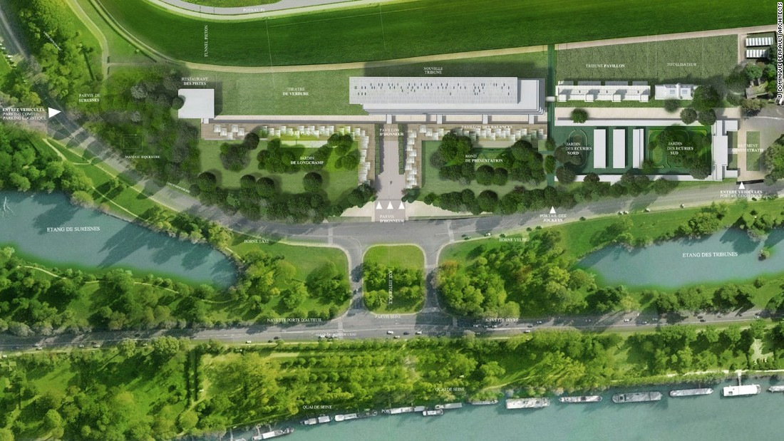 "The project has an estimated cost of €130 million ($145m), Perrault says. Building work is set to get underway after this year's ""Arc"" and is scheduled to be completed in 2017. <br />In 2016, the historic race will be held at Chantilly, 50 kilometers north of Paris."