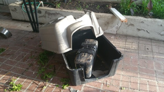 Nogales Police estimate that the package dropped through the roof of a carport was nearly 30 pounds and worth about $10,000.