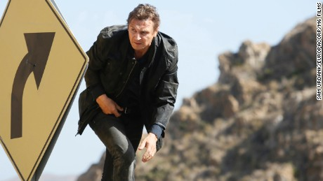 "Liam Neeson, seen here in ""Taken 3,"" takes free food offers very seriously."