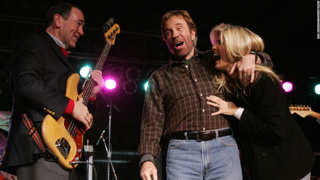"Actor Chuck Norris has a very public bromance with former GOP candidate Mike Huckabee. When Huckabee announced his candidacy, Norris told <a href=""http://www.nytimes.com/politics/first-draft/2015/05/05/mike-huckabee-has-chuck-norris-in-his-corner-again/?_r=0"" target=""_blank"">The New York Times</a> in a statement, ""I still believe Mike Huckabee is the most qualified.""<br /><br />Norris also endorsed Huckabee when he ran for President in 2008."
