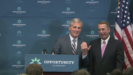 Boehner McCarthy GOP House Leadership weekly meeting tan good man Republican party _00000116