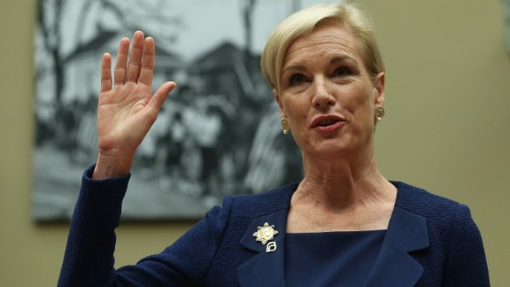 WASHINGTON, DC - SEPTEMBER 29:  Cecile Richards, president of Planned Parenthood Federation of America Inc. is sworn in during a House Oversight and Government Reform Committee hearing on Capitol Hill, September 29, 2015 in Washington, DC. The committee is hearing testimony on the use of taxpayer funding by Planned Parenthood and its affiliates.  (Photo by Mark Wilson/Getty Images)