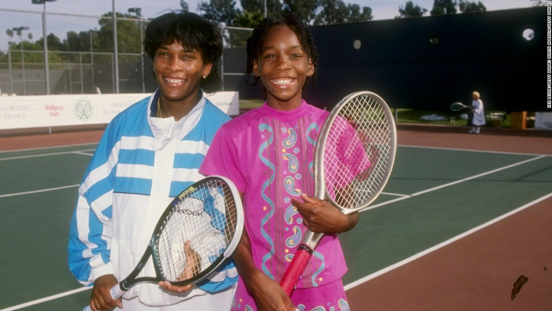 Williams (right) was always tipped for the top after impressing as a junior. She turned professional at the age of 14.