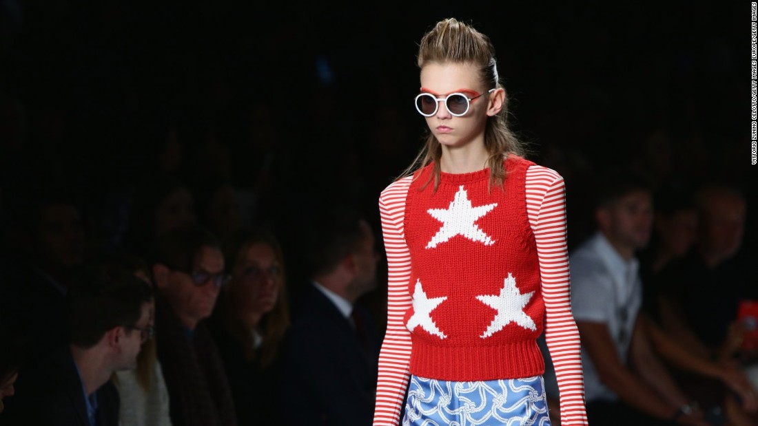 It was stars and stripes forever at Max Mara.