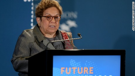 Donna Shalala, a former Cabinet secretary during the Bill Clinton presidency, now heads the Clinton Foundation.
