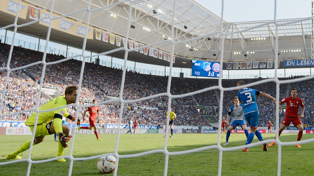 Lewandowski scores in the 90th minute as Bayern comes from behind to beat Hoffenheim 2-1 in the Bundesliga.