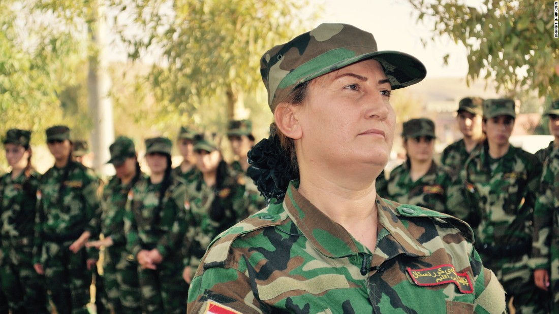 Xate Shingali is a Yazidi musician who has recruited over 100 girls and women to form the Sun Girls battalion.