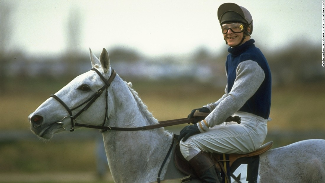 Jockey Richard Dunwoody on Desert Orchid at Cheltenham in 1990. Equine infatuations are nothing new in Britain, the grey, who won the Cheltenham Gold Cup in 1989, was one of the most lauded over the fences in the UK.