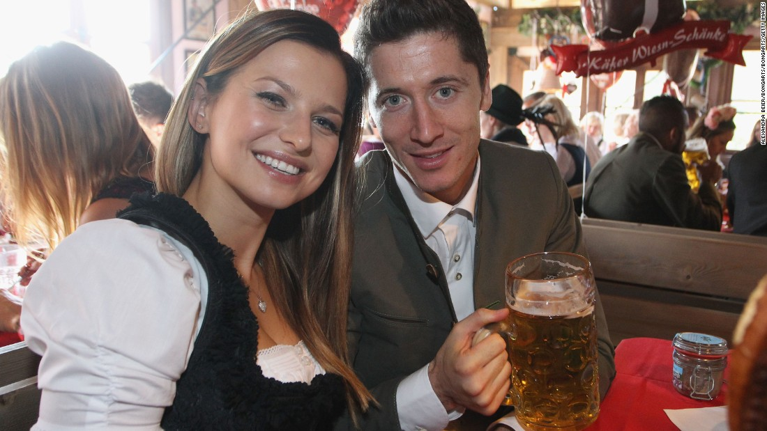 Lewandowsk can be probably forgiven for enjoying an extra libation or two given he's scored 10 goals in his last three games.