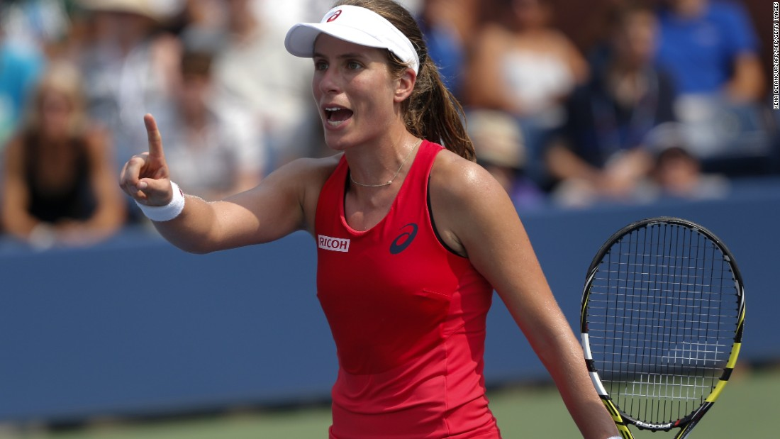 Konta reached the last-16 of the 2015 U.S. Open after claiming notable victories over Spain's Garbine Muguruza and Germany's Andrea Petkovic.<br />