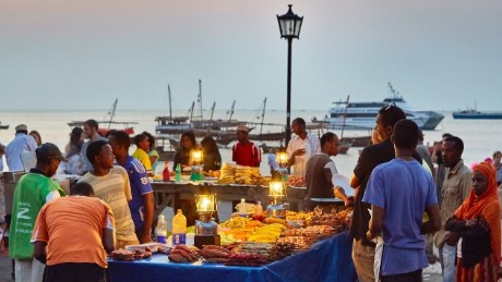Evening food markets at Stone Town