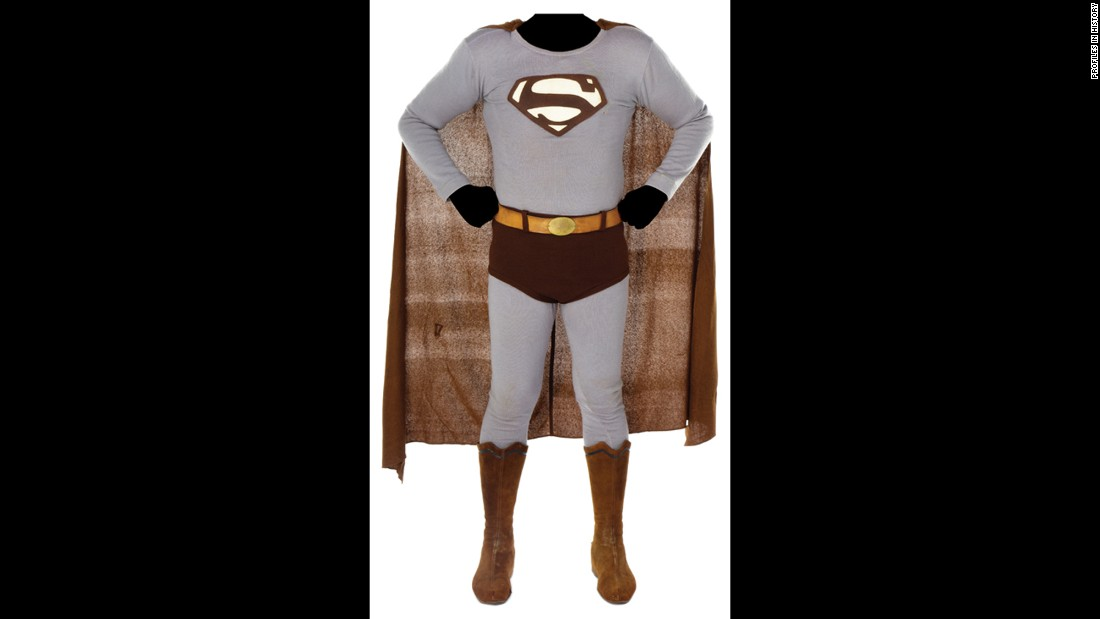 Here is one George Reeve's Superman costumes from the 1950s TV series.
