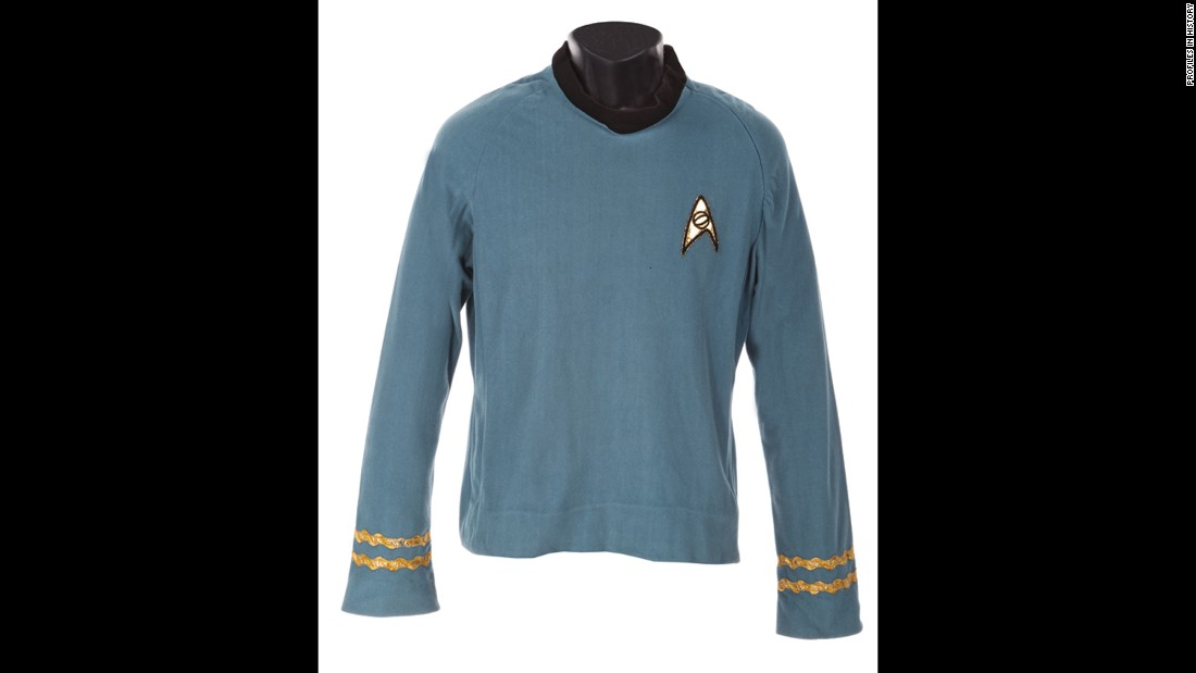"You can own a piece of the late Leonard Nimoy's legacy with this tunic from ""Star Trek."""