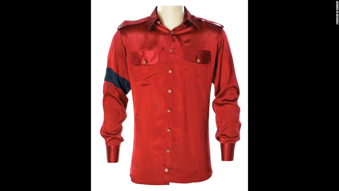 This shirt may look vaguely familiar if you are a fan of Michael Jackson. He wore it in an interview with Diane Sawyer, along with his then-wife Lisa Marie Presley.